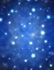 Abstract Stars In Deep Blue Sky Background For Children Photo Backdrop - Shop Backdrop