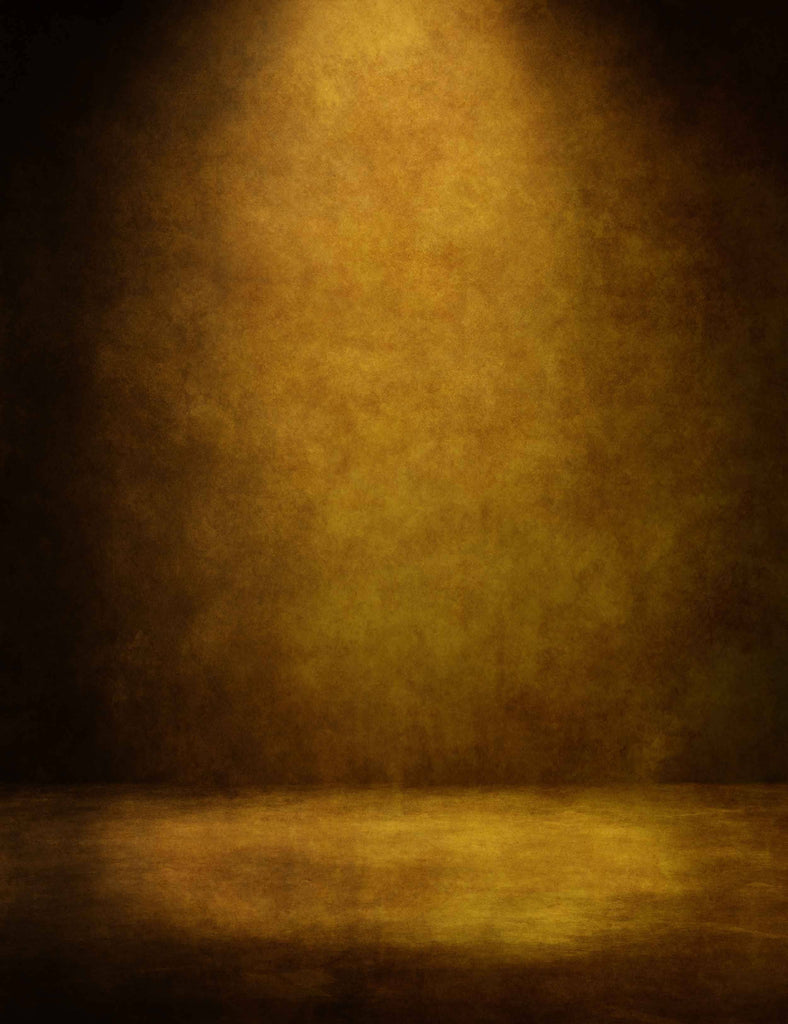 Abstract Wax Yellow With Light In Center Photography Backdrop - Shop Backdrop