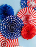 American Flag Pinwheel Background For Holiday Photography Fabric Backdrop