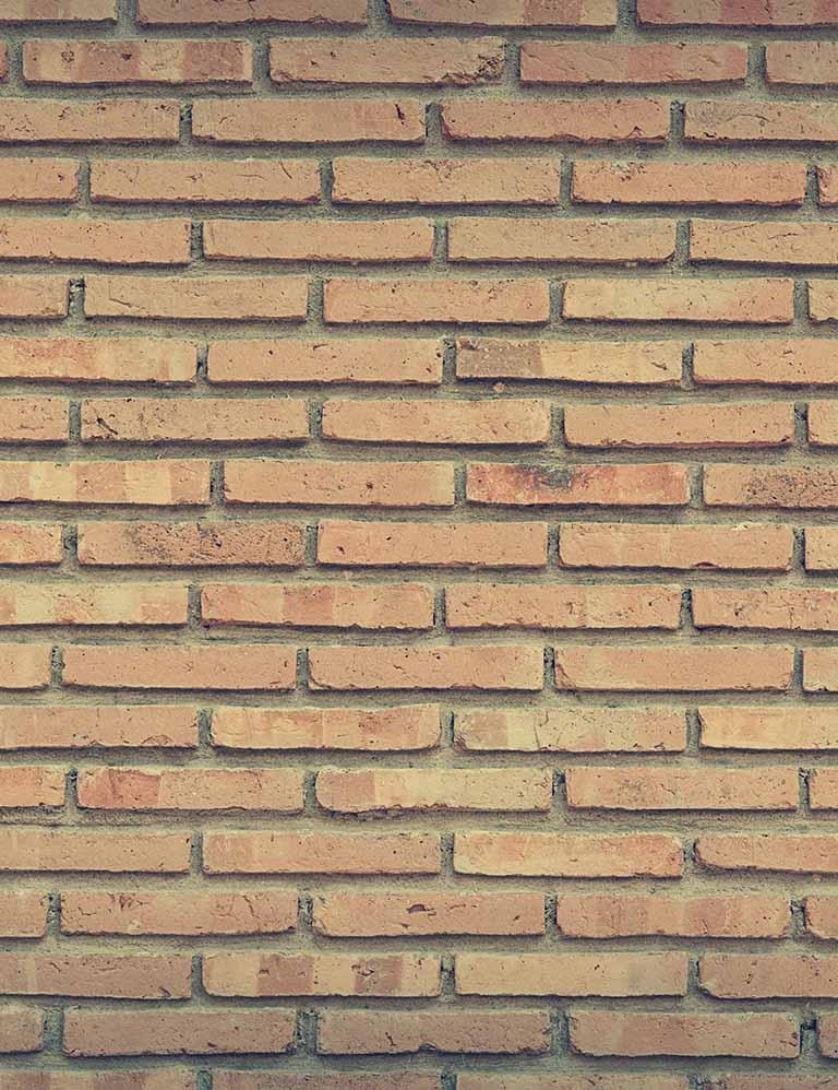Apricot Brick Wall Backdrops For Photography - Shop Backdrop