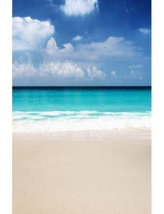 Azure Sea Sandy Beach Photography For Children Summer Holiday Backdrop - Shop Backdrop