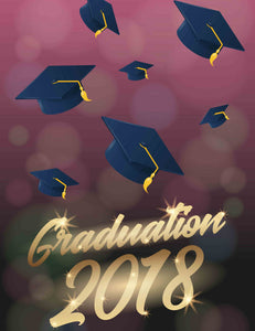 Bachelor's Cap Fly In Purple Bokeh Background For Celebrate Graduation - Shop Backdrop