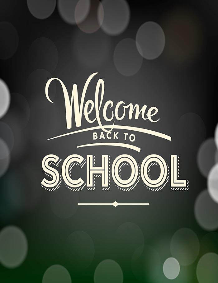 Back To School Poster With Text On Chalkboard Photography Backdrop J-0155 - Shop Backdrop