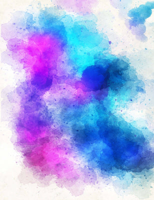 Pink Blue Baby Blue Watercolors Abstract Texture Backdrop