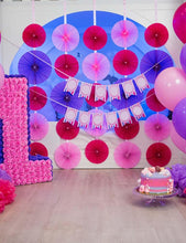 Balloon And Paper Umbrella For Birthday Party With Wooden Floor Backdrop - Shop Backdrop
