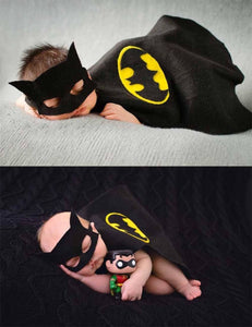 Batmen Cape Mask Set Newborn Photo Prop Shopbackdrop - Shop Backdrop