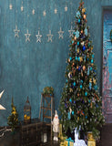 Beautiful Christmas With Decorated Wall Photography Backdrop N-0032 - Shop Backdrop