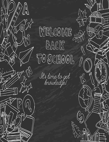 Blackboard Printed Drawn Back To School Photography Backdrop J-0229 - Shop Backdrop