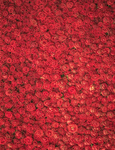 Blooming Red Flowers Made Wall For Wedding Photography Backdrop - Shop Backdrop