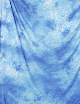 Blue Abstract Muslin Hand Painted Backdrop For Studio Photo - Shop Backdrop