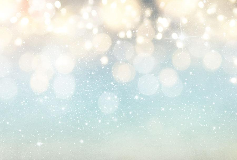 Blue Bokeh Background With Sparkle For Christmas