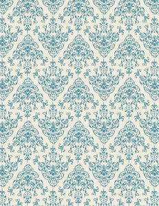 Blue Damask Printed For Baby Photography Backdrop - Shop Backdrop