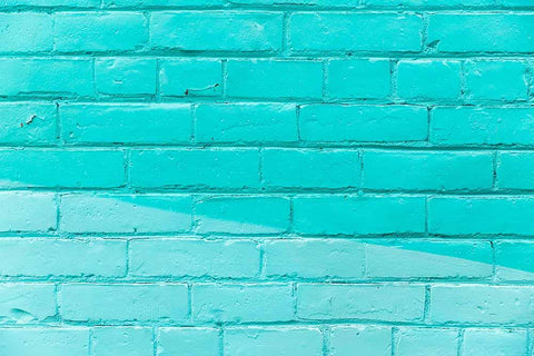Blue Green Brick Wall Texture Background For Photo Studio Backdrop - Shop Backdrop