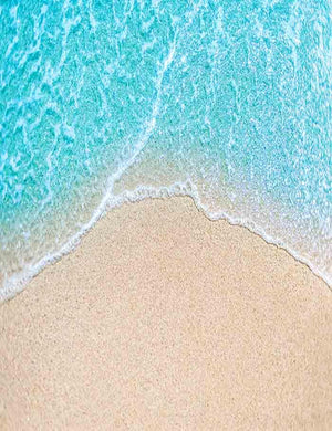 Blue Sea Water With Sandy Beach Photography Backdrop J-0351 - Shop Backdrop