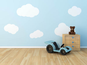 Blue Sky With Clouds Wall Toy Car On Floor Backdrop For Baby Photography - Shop Backdrop