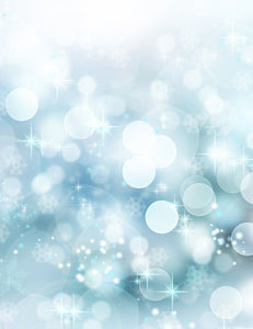 Blue Sparkles Bokeh Texture Photography For Christmas Backdrop - Shop Backdrop