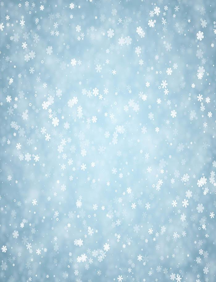 blue winter background with snowflakes pattern photography backdrop