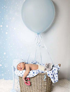Blue Winter Background With Snowflakes Pattern Photography Backdrop J-0094 - Shop Backdrop