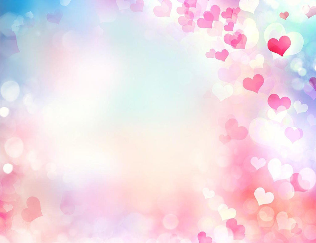 Bokeh Background With Pink And Red Heart Around Sides Photography