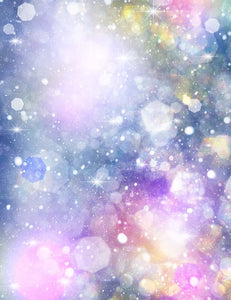 Bokeh Colorful Sparkle Holiday Photography Backdrop J-0457