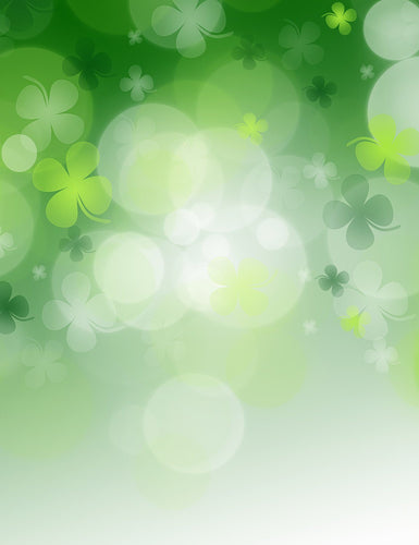 Bokeh Green Clover Sparkle Photography For Saint Patrick's Day Backdrop - Shop Backdrop