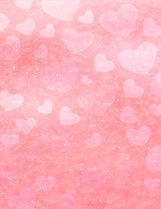 Bokeh Pink Hearts With Gold Dots For Valentines Day Photography Backdrop - Shop Backdrop