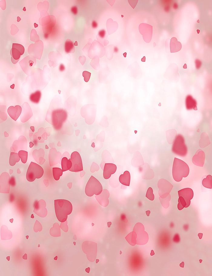 Bokeh Red Hearts For Valentines Day Photography Backdrop J-0152 - Shop Backdrop