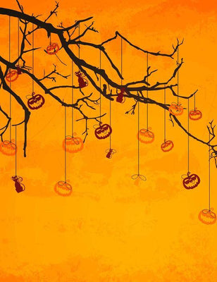 branch hanging pumpkin photography for baby halloween backdrop shop backdrop