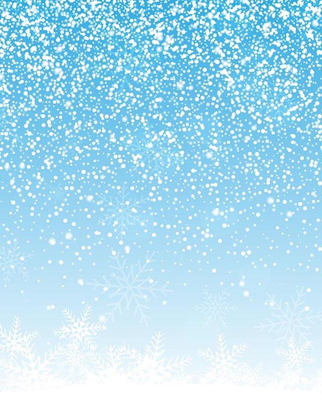 Bule Sky Whit Snowing Backdrop For New Year Photography - Shop Backdrop