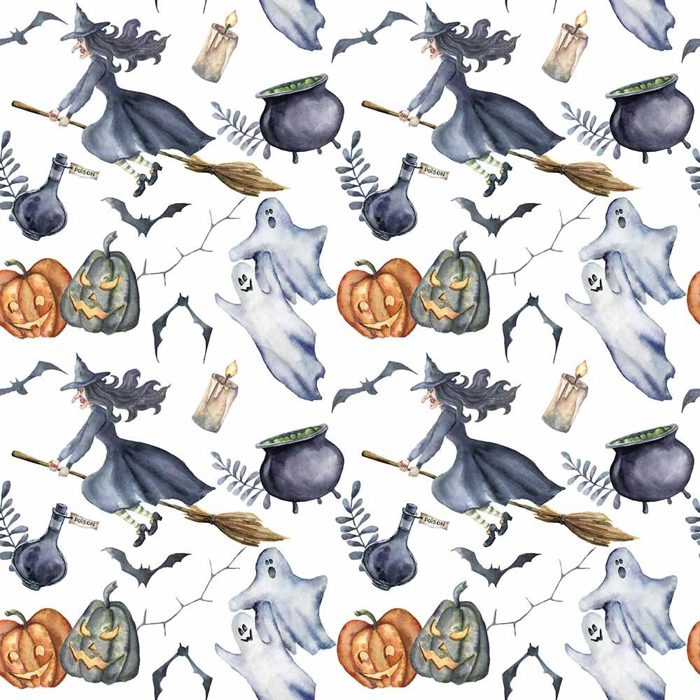 Cartoon Painted Halloween Holiday Photography Backdrop N-0145