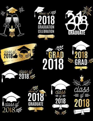 Celebrating 2018 Graduation Custom Step And Repeat Photography Backdrop - Shop Backdrop