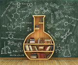 Chalkboard Drawing Chemical Equation For Children Back To School Backdrop - Shop Backdrop