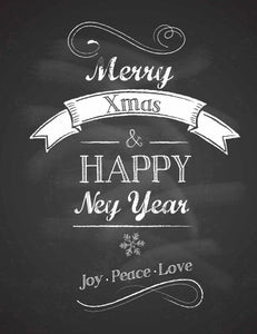 Chalkboard Happy New Year Background Photography Backdrop - Shop Backdrop