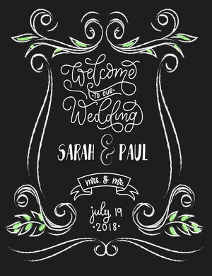 Chalkboard Painted Custom Wedding Photography  Fabric Backdrop - Shop Backdrop