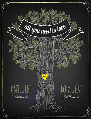 Chalkboard Painted Love Tree For Wedding Party Photography Backdrop - Shop Backdrop