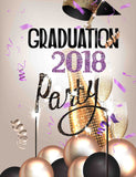 Champagne For Celebrating 2018 Graduation Party Backdrop - Shop Backdrop