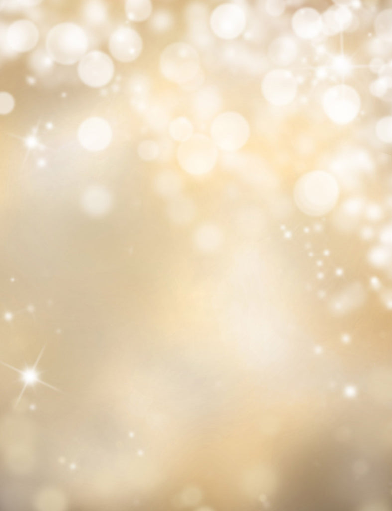 Champagne Yellow Sparkles Bokeh Photography For Christmas Backdrop - Shop Backdrop