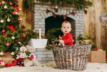 Christmas Before Fireplace Decorated With Candles For Holiday Photography Backdrop N-0034