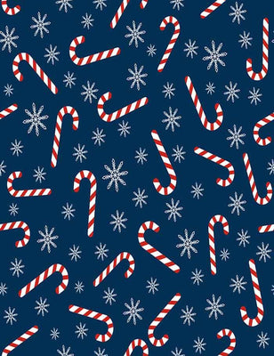 Christmas Cane Snowflakes Step And Repeat Photography Backdrop J-0219 - Shop Backdrop
