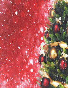 Christmas Decorated With Ball Red Sparkling Backdrop For Photography N-0020