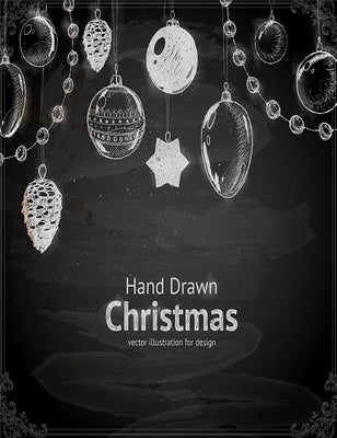 Christmas Hand Drawn With Ball Toy And Fir-Cone Photography Backdrop J-0117 - Shop Backdrop