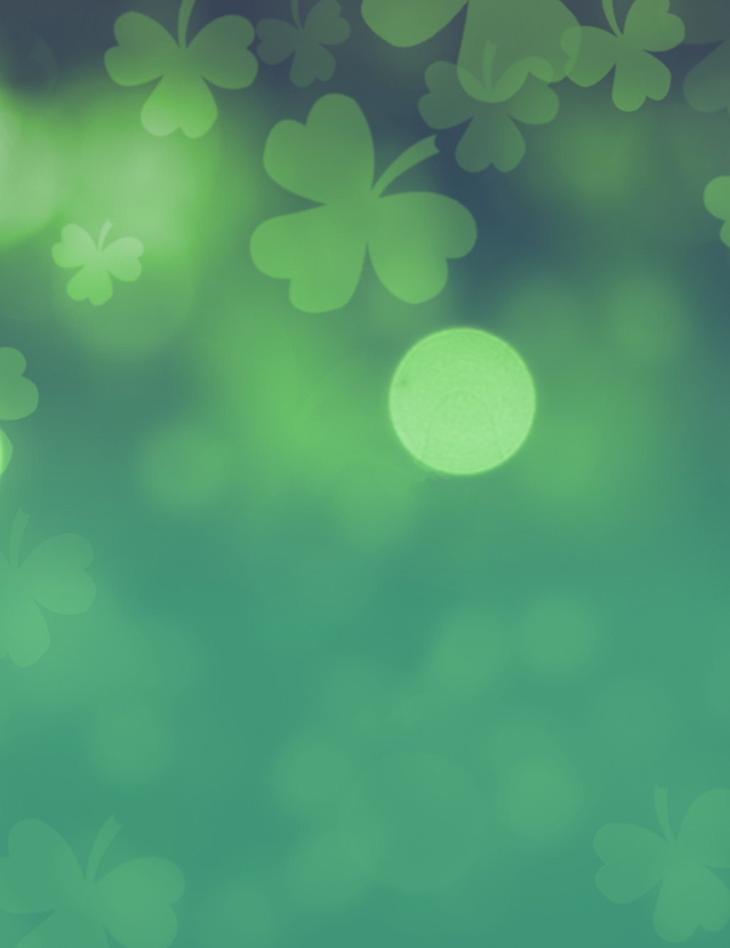 clover green background with green bokeh backdrop for st patrick s