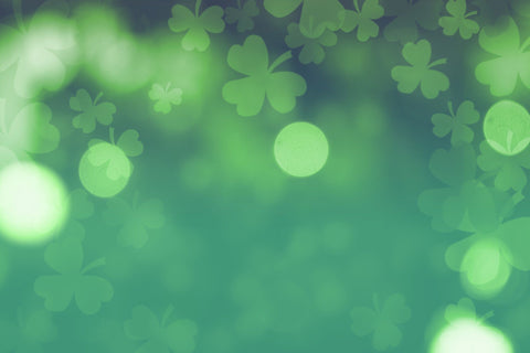Clover Green Background With Green Bokeh Backdrop For St. Patrick's - Shop Backdrop