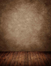 Cold Brown Solid Wall With Wood Floor Backdrop For Photography - Shop Backdrop