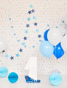Colorful Balloons And Paper Wall For Baby Birthday Backdrop - Shop Backdrop