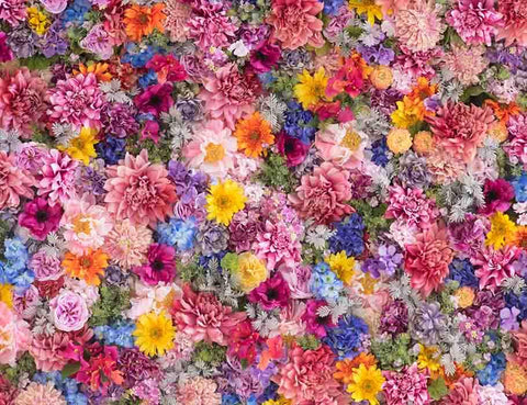 Colorful Flower Wall For Wedding Photography Backdrop J-0183 - Shop Backdrop