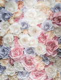 Colorful Flower Wall For Wedding Photography Backdrop