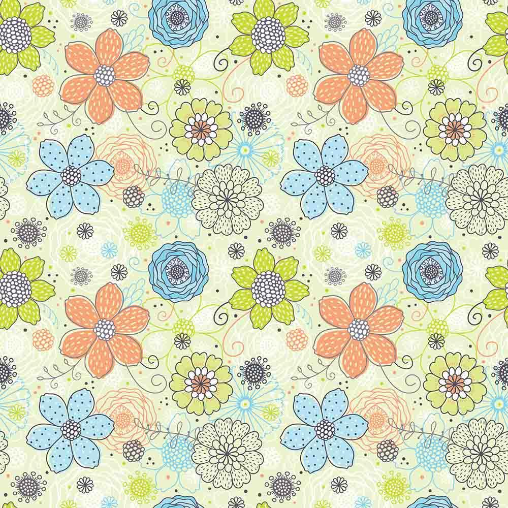 Colorful Flowers Painted On Papaerwall For Baby Photo Backdrop - Shop Backdrop