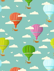 Colorful Hot Air Balloon Backdrop For Children Photography - Shop Backdrop