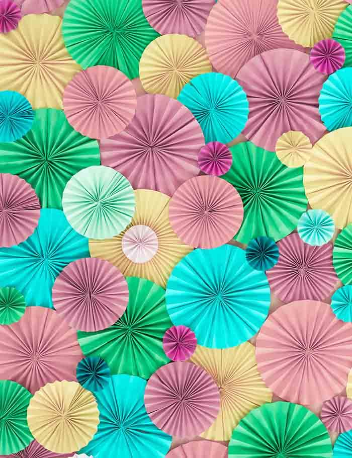 Colorful Pinwheel Wall For Wedding Photography  Backdrop J-0284 - Shop Backdrop